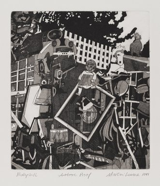 Martin Levine (American, born 1945). <em>Babydoll</em>, 1971. Intaglio (etching and aquatint) on paper, sheet: 19 x 15 in. (48.3 x 38.1 cm). Brooklyn Museum, Gift of Stephen Foster, 77.224.19. © artist or artist's estate (Photo: Brooklyn Museum, 77.224.19_PS4.jpg)