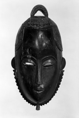 Yohure. <em>Mask</em>, early 20th century. Wood, height: 12 in. (30.5 cm). Brooklyn Museum, Gift of Dr. and Mrs. Eugene Becker, 77.240. Creative Commons-BY (Photo: Brooklyn Museum, 77.240_bw.jpg)