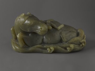 <em>Horse</em>, 19th century. Jade, 3 x 3 1/2 x 6 1/2 in. (7.6 x 8.9 x 16.5 cm). Brooklyn Museum, Gift of Dr. Martin E. Frankel, 77.258. Creative Commons-BY (Photo: Brooklyn Museum, 77.258_PS4.jpg)