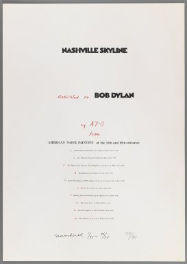 Ay-O (Japanese, born 1931). <em>Combined Title and Colophon Page</em>, 1971. Printed text with hand written additions in red ink and graphite., Sheet: 20 7/8 x 14 3/4 in. (53 x 37.5 cm). Brooklyn Museum, Gift of Mr. and Mrs. Robert L. Poster, 77.279.11. © artist or artist's estate (Photo: Brooklyn Museum, 77.279.11_IMLS_PS3.jpg)