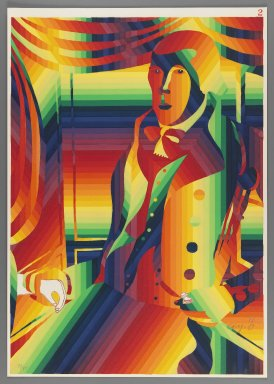 Ay-O (Japanese, born 1931). <em>Dr. Philomen Tracy</em>, 1971. Color serigraph, Sheet: 20 7/8 x 14 3/4 in. (53 x 37.5 cm). Brooklyn Museum, Gift of Mr. and Mrs. Robert L. Poster, 77.279.2. © artist or artist's estate (Photo: Brooklyn Museum, 77.279.2_IMLS_PS3.jpg)