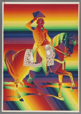 Ay-O (Japanese, born 1931). <em>General Washington on White Charger (Jack)</em>, 1971. Color serigraph, Sheet: 20 7/8 x 14 3/4 in. (53 x 37.5 cm). Brooklyn Museum, Gift of Mr. and Mrs. Robert L. Poster, 77.279.5. © artist or artist's estate (Photo: Brooklyn Museum, 77.279.5_IMLS_PS3.jpg)