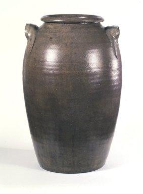 <em>Jar</em>, 19th century. Salt-glazed stoneware, 16 x 7 in. (40.6 x 17.8 cm). Brooklyn Museum, H. Randolph Lever Fund, 77.48.8. Creative Commons-BY (Photo: Brooklyn Museum, 77.48.8_transp2660.jpg)