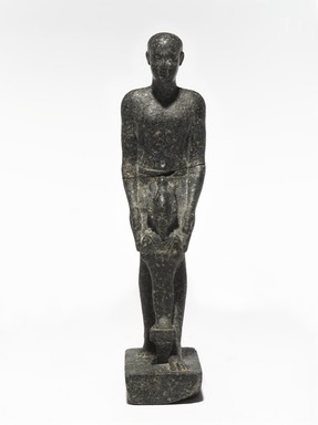 <em>Hor, Son of Pawen</em>, ca. 399-381 B.C.E. Granite, 7 1/2 × 1 3/4 × 2 3/4 in., 1 lb. (19.1 × 4.4 × 7 cm, 0.45kg). Brooklyn Museum, Charles Edwin Wilbour Fund, 77.50. Creative Commons-BY (Photo: , 77.50_PS9.jpg)
