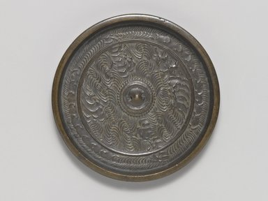 <em>Mirror</em>, 15th century. Cast bronze, 7/16 x 4 1/2 in. (1.1 x 11.4 cm). Brooklyn Museum, Designated Purchase Fund, 77.55.3. Creative Commons-BY (Photo: Brooklyn Museum, 77.55.3_PS4.jpg)