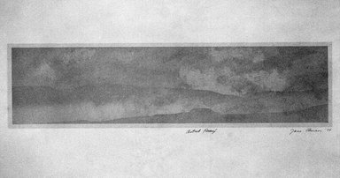 Jane Aman (American, born 1943). <em>Untitled</em>, 1975. Serigraph on paper, Image: 5 1/2 x 20 1/2 in. (14 x 52.1 cm). Brooklyn Museum, Gift of ADI Gallery, 77.62.1. © artist or artist's estate (Photo: Brooklyn Museum, 77.62.1_bw.jpg)