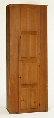 Shaker Community. <em>Cupboard</em>, 1830-1870. Stained pine, 83 1/2 x 30 x 15 3/4 in. (212.1 x 76.2 x 40 cm). Brooklyn Museum, Gift of Mrs. Oscar Bernstien, 77.84.1. Creative Commons-BY (Photo: Brooklyn Museum, 77.84.1_IMLS_SL2.jpg)