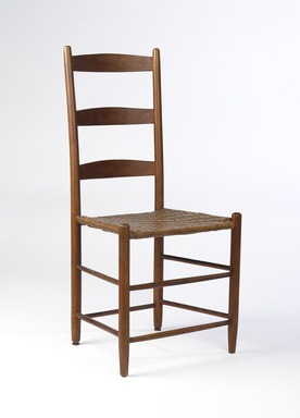 Shaker Community. <em>Chair</em>, 1830-1870. Pine, 36 7/8 x 18 x 14 in. (93.7 x 45.7 x 35.6 cm). Brooklyn Museum, Gift of Mrs. Oscar Bernstien, 77.84.2. Creative Commons-BY (Photo: Brooklyn Museum, 77.84.2_PS9.jpg)