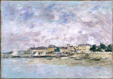 Eugène Louis Boudin (French, 1824-1898). <em>The Port, Trouville (Trouville, Le Port)</em>, 1886. Oil on canvas, 18 x 25 5/8 in. (45.7 x 65.1 cm). Brooklyn Museum, Gift of Mr. and Mrs. Robert E. Blum, 77.99 (Photo: Brooklyn Museum, 77.99_SL1.jpg)