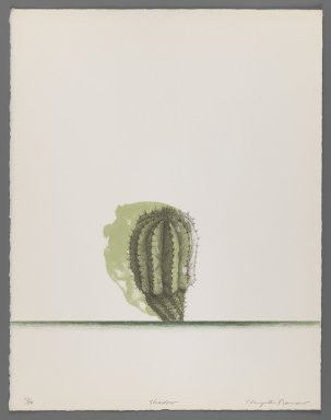 Kenjilo Nanao (Japanese, 1929-2013). <em>Shadow</em>, 1977. Lithograph on paper, sheet (image): 14 3/8 x 11 3/16 in. (36.5 x 28.4 cm). Brooklyn Museum, Gift of California State University, Hayward, 78.103.17. © artist or artist's estate (Photo: Brooklyn Museum, 78.103.17_IMLS_PS3.jpg)