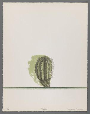 Kenjilo Nanao (Japanese, 1929-2013). <em>Shadow</em>, 1977. Lithograph on paper, sheet (image): 14 3/8 x 11 3/16 in. (36.5 x 28.4 cm). Brooklyn Museum, Gift of California State University, Hayward, 78.103.17. © artist or artist's estate (Photo: Brooklyn Museum, 78.103.17_IMLS_PS3.jpg)