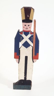 <em>Toy Soldier</em>, ca. 1927. Painted wood, 31 5/8 x 9 x 1 5/8 in.  (80.3 x 22.9 x 4.1 cm). Brooklyn Museum, Gift of John Worthington, 78.130. Creative Commons-BY (Photo: Brooklyn Museum, 78.130_transp2683.jpg)