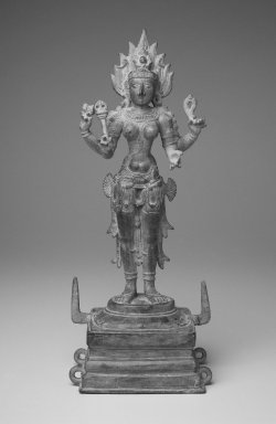 <em>Standing Kali</em>, 12th century. Bronze, 14 1/2 x 5 in. (36.8 x 12.7 cm). Brooklyn Museum, Gift of Richard A. Benedek, 78.137. Creative Commons-BY (Photo: Brooklyn Museum, 78.137_front.jpg)