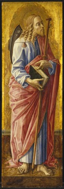 Carlo Crivelli (Italian, Venetian, Schools of the Venice and the Marches, 1430-1495). <em>Saint James Major, part of an altarpiece</em>, 1472. Tempera and tooled gold on panel, 38 1/4 x 12 5/8 in. (97.2 x 32.1 cm). Brooklyn Museum, Bequest of Helen Babbott Sanders, 78.151.10 (Photo: Brooklyn Museum, 78.151.10_SL1.jpg)