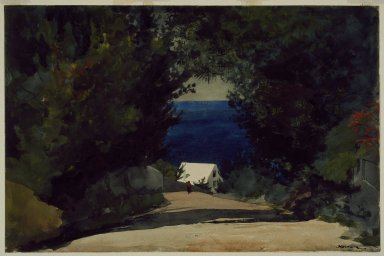 Winslow Homer (American, 1836-1910). <em>Road in Bermuda</em>, ca. 1899-1901. Watercolor on paper Brooklyn Museum, Gift of the Estate of Helen Babbott Sanders, 78.151.3 (Photo: Brooklyn Museum, 78.151.3_SL3.jpg)