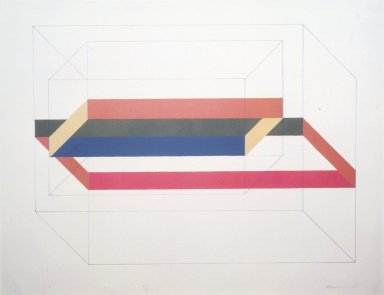 Charles Hinman (American, born 1932). <em>Untitled</em>, 1969. Lithograph, Image: 17 13/16 x 24 1/8 in. (45.2 x 61.2 cm). Brooklyn Museum, Gift of the Storm King Art Center, 78.162.13. © artist or artist's estate (Photo: Brooklyn Museum, 78.162.13_transpc001.jpg)