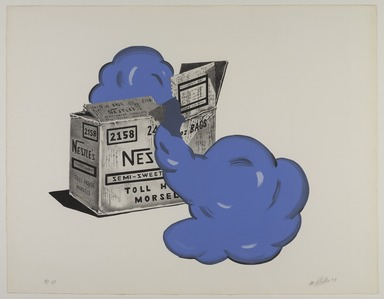 Marjorie Strider (American, 1934-2014). <em>Nestle's Box</em>, 1973. Lithograph and acrylic, Sheet (Irregular): 21 1/8 x 27 1/8 in. (53.7 x 68.9 cm). Brooklyn Museum, Gift of the Storm King Art Center, 78.162.71. © artist or artist's estate (Photo: , 78.162.71_PS9.jpg)