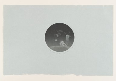 Stephen Hazel (American, 1935-2012). <em>Queen (Kwannon) 55 A Day Version</em>, 1970. Etching with aquatint and engraving, Sheet: 7 1/8 x 11 in. (18.1 x 27.9 cm). Brooklyn Museum, Designated Purchase Fund, 78.170.3. © artist or artist's estate (Photo: Brooklyn Museum, 78.170.3_PS4.jpg)