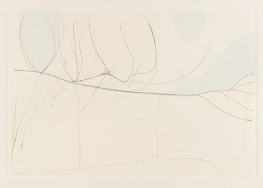 Stephen Hazel (American, 1935-2012). <em>IL in OH Turnpike</em>, 1971. Etching with relief, Sheet: 12 1/2 x 14 1/2 in. (31.8 x 36.8 cm). Brooklyn Museum, Designated Purchase Fund, 78.170.4. © artist or artist's estate (Photo: Brooklyn Museum, 78.170.4_PS4.jpg)