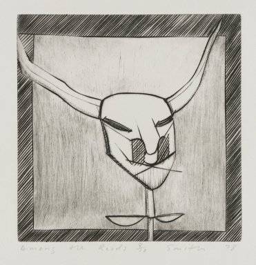 Scott Smith (American, born 1951). <em>Among the Reeds</em>, 1978. Plexiglass engraving on paper, sheet: 9 3/8 x 9 3/8 in. (23.8 x 23.8 cm). Brooklyn Museum, Designated Purchase Fund, 78.172.1. © artist or artist's estate (Photo: Brooklyn Museum, 78.172.1_PS4.jpg)