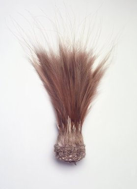 <em>Feather Headdress</em>, mid-20th century. Cassowary feathers, basketry base, 14 x 4 x 3 in. (35.6 x 10.2 x 7.6 cm). Brooklyn Museum, Gift of the United States Customs Service, 78.179. Creative Commons-BY (Photo: Brooklyn Museum, 78.179.jpg)