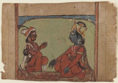 <em>Miniature Painting</em>, ca. early 17th century. Opaque watercolors on paper, 3 1/2 x 5 1/8 in. (8.9 x 13 cm). Brooklyn Museum, Gift of Temple Art, Inc, 78.207 (Photo: Brooklyn Museum, 78.207_IMLS_PS3.jpg)