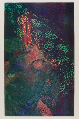 Susan Kaprov (American, born 1949). <em>Self Portrait I</em>, 1975. Color xerox, 13 3/4 x 8 1/2 in. (34.9 x 21.6 cm). Brooklyn Museum, Gift of the artist, 78.219.1. © artist or artist's estate (Photo: Brooklyn Museum, 78.219.1_PS4.jpg)