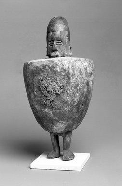 Teke. <em>Power Figure (Buti)</em>, 20th century. Wood, organic materials, clay, 8 3/4 x 4 1/4 x 4 1/2 in. (22.2 x 10.8 x 11.4 cm). Brooklyn Museum, Gift of Marcia and John Friede, 78.239.1. Creative Commons-BY (Photo: Brooklyn Museum, 78.239.1_bw.jpg)
