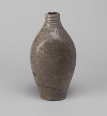 American. <em>Flask</em>, ca. 1820-1840. Stoneware, 7 1/2 x 4 x 3 1/8 in. (19.1 x 10.2 x 7.9 cm). Brooklyn Museum, Gift of Allison C. Paulsen in memory of Arthur W. Clement, 78.242.19. Creative Commons-BY (Photo: Brooklyn Museum, 78.242.19.jpg)