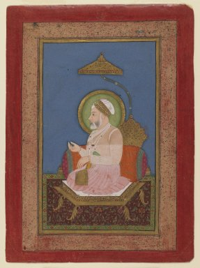 Sukha Luhar. <em>Emperor Alamgir II</em>, ca. 1756. Opaque watercolor on paper, sheet: 7 3/16 x 5 1/4 in.  (18.3 x 13.3 cm). Brooklyn Museum, Anonymous gift, 78.256.5 (Photo: Brooklyn Museum, 78.256.5_IMLS_PS3.jpg)