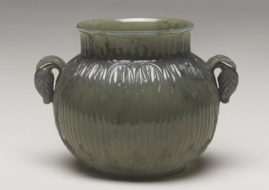 Unknown Mughal Artist. <em>Jade Cup with Chinese Inscription</em>, mid 17th century. Carved Jade, at base: 3 1/4 x 2 1/8 in. (8.3 x 5.4 cm). Brooklyn Museum, Gift of Mr. and Mrs. Alastair B. Martin, the Guennol Collection, 78.7. Creative Commons-BY (Photo: Brooklyn Museum, 78.7_PS9.jpg)