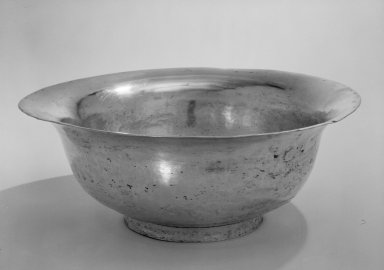 <em>Bowl</em>, 19th century. Silver, 321 x 13 1/2 x 5 3/4 in. (815.3 x 34.3 x 14.6 cm). Brooklyn Museum, Gift of Mrs. Harold J. Roig in memory of Harold J. Roig, 79.123.1. Creative Commons-BY (Photo: Brooklyn Museum, 79.123.1_bw.jpg)