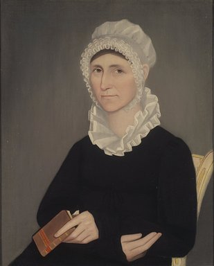 Ammi Phillips (American, 1788-1865). <em>Betsey Beckwith</em>, ca. 1817. Oil on canvas, 30 1/2 x 24 9/16 in. (77.4 x 62.4 cm). Brooklyn Museum, Gift of Mrs. Harold J. Roig, 79.133.1 (Photo: Brooklyn Museum, 79.133.1.jpg)