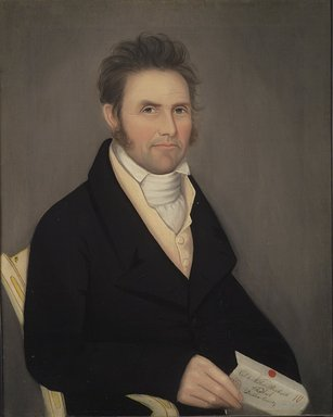 Ammi Phillips (American, 1788-1865). <em>Colonel Nathan Beckwith</em>, ca. 1817. Oil on canvas, 30 1/2 x 24 9/16 in. (77.4 x 62.4 cm). Brooklyn Museum, Gift of Mrs. Harold J. Roig, 79.133.2 (Photo: Brooklyn Museum, 79.133.2.jpg)
