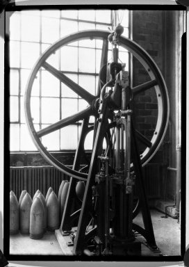 Lewis Wickes Hine (American, 1874-1940). <em>[Untitled] (A Glywheel)</em>, 1936-1937. Gelatin silver photograph, 7 1/4 x 4 3/4 in. (18.4 x 12.1 cm). Brooklyn Museum, Gift of the National Archives, 79.143.148 (Photo: Brooklyn Museum, 79.143.148_bw.jpg)