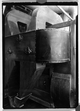 Lewis Wickes Hine (American, 1874-1940). <em>[Untitled] (Eureka Double Wheat Sifter)</em>, 1936-1937. Gelatin silver photograph, 7 1/4 x 4 3/4 in. (18.4 x 12.1 cm). Brooklyn Museum, Gift of the National Archives, 79.143.33 (Photo: Brooklyn Museum, 79.143.33_bw.jpg)