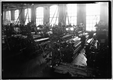 Lewis Wickes Hine (American, 1874-1940). <em>[Untitled] (Factory Interior)</em>, 1936-1937. Gelatin silver photograph, 4 3/4 x 7 1/4 in.  (12.1 x 18.4 cm). Brooklyn Museum, Gift of the National Archives, 79.143.95 (Photo: Brooklyn Museum, 79.143.95_bw.jpg)