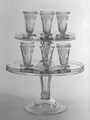 <em>Jelly Glass</em>, ca. 1790. Free-blown glass, 4 x 2 3/8 in. (10.2 x 6 cm). Brooklyn Museum, Purchased with funds given by an anonymous donor, 79.172.10. Creative Commons-BY (Photo: , 79.171.1_79.171.2_79.172.1-.12_bw.jpg)