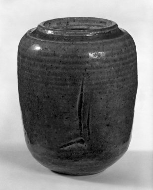 J. B. Blunk (American, 1926-2002). <em>Jar</em>, 1953. Glazed stoneware, 4 1/4 x 3 1/2in. (10.8 x 8.9cm). Brooklyn Museum, Gift of Sidney B. Cardozo, Jr., 79.178.3. Creative Commons-BY (Photo: Brooklyn Museum, 79.178.3_bw.jpg)