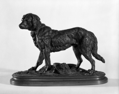 Alfred Barye (French, 1839-1882). <em>Lelio</em>. Bronze, With Base: 6 1/2 x 3 1/2 x 9 in. (16.5 x 8.9 x 22.9 cm). Brooklyn Museum, Gift of Dr. and Mrs. Marvin Reingold through the courtesy of the Community Committee of the Brooklyn Museum, 79.195.2. Creative Commons-BY (Photo: Brooklyn Museum, 79.195.2_bw.jpg)