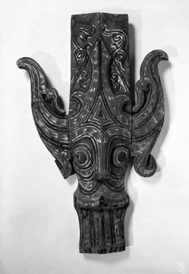 <em>Singa, House Ornament</em>. Wood, pigments Brooklyn Museum, Gift of Mr. and Mrs. Gustave Schindler, 79.2.2. Creative Commons-BY (Photo: Brooklyn Museum, 79.2.2_bw.jpg)