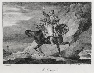 Théodore Géricault (French, 1791-1829). <em>Le Giaour</em>, 1820. Lithograph on wove paper Brooklyn Museum, Designated Purchase Fund, 79.228.1 (Photo: Brooklyn Museum, 79.228.1_PS6.jpg)