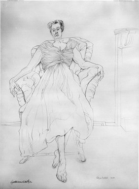 Cynthia Maris Dantzic (American, born 1933). <em>Cathy as Anastasia</em>, September 19, 1974. Graphite on paper, 29 3/4 x 22 in. (75.6 x 55.9 cm). Brooklyn Museum, Designated Purchase Fund, 79.229. © artist or artist's estate (Photo: Brooklyn Museum, 79.229_bw.jpg)