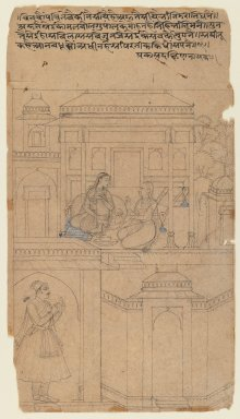 <em>Dakshina Nayaka</em>, ca. 1625-1650. Ink on paper, 10 9/16 x 5 15/16 in. (26.9 x 15.1 cm). Brooklyn Museum, Gift of Marilyn W. Grounds, 79.260.9 (Photo: Brooklyn Museum, 79.260.9_IMLS_PS3.jpg)