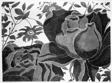 Laura Grosch (American, born 1945). <em>Rose</em>, 1973. Lithograph Brooklyn Museum, Gift of Stephen Andrus, 79.292.4. © artist or artist's estate (Photo: Brooklyn Museum, 79.292.4_bw.jpg)