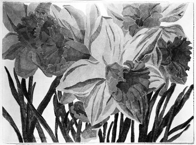 Laura Grosch (American, born 1945). <em>Daffodils</em>, 1975. Lithograph Brooklyn Museum, Gift of Stephen Andrus, 79.292.8. © artist or artist's estate (Photo: Brooklyn Museum, 79.292.8_bw.jpg)