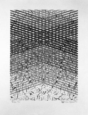 Norman Stewart (American, born 1947). <em>Bias</em>, 1977. Screenprint, sheet: 26 x 20 in. (66 x 50.8 cm). Brooklyn Museum, Gift of Stewart & Stewart in the name of Sewell Sillman, 79.54. © artist or artist's estate (Photo: Brooklyn Museum, 79.54_bw.jpg)