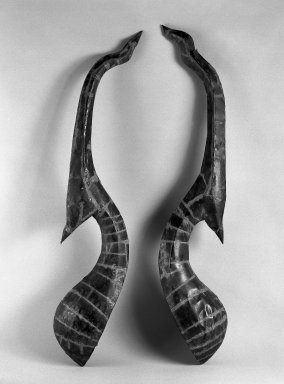 <em>Chow-fah (Roof Finials)</em>, ca. 1780. Teakwood covered with copper sheets, 59 x 8 1/2 in. (149.9 x 21.6 cm). Brooklyn Museum, Gift of Dr. Andrew Dahl, 80.115.10. Creative Commons-BY (Photo: , 80.115.9_80.115.10_bw.jpg)