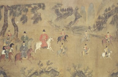 <em>Cavalry Procession</em>, 16th century. Ink and light color on silk, Image: 27 x 41 in. (68.6 x 104.1 cm). Brooklyn Museum, Gift of Dr. and Mrs. Leroy Lavine, 80.117.2 (Photo: Brooklyn Museum, 80.117.2.jpg)