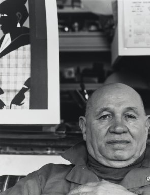 Arthur Mones (American, 1919-1998). <em>Romare Bearden</em>, 1980. Gelatin silver photograph, 13 1/2 × 10 1/2 in. (34.3 × 26.7 cm). Brooklyn Museum, Gift of George Feher, 80.130.2. © artist or artist's estate (Photo: Brooklyn Museum, 80.130.2_PS4.jpg)